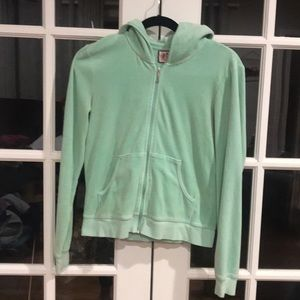 Juicy Couture Mint Green Velour Jacket
